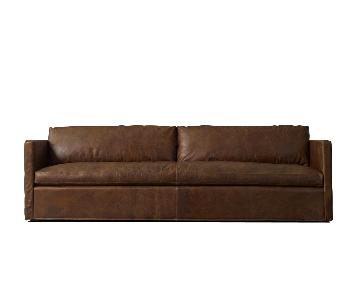Whiskey Leather Luxe Depth Shelter Arm Sofa
