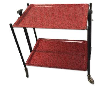 1950s Collapsible Bar Cart