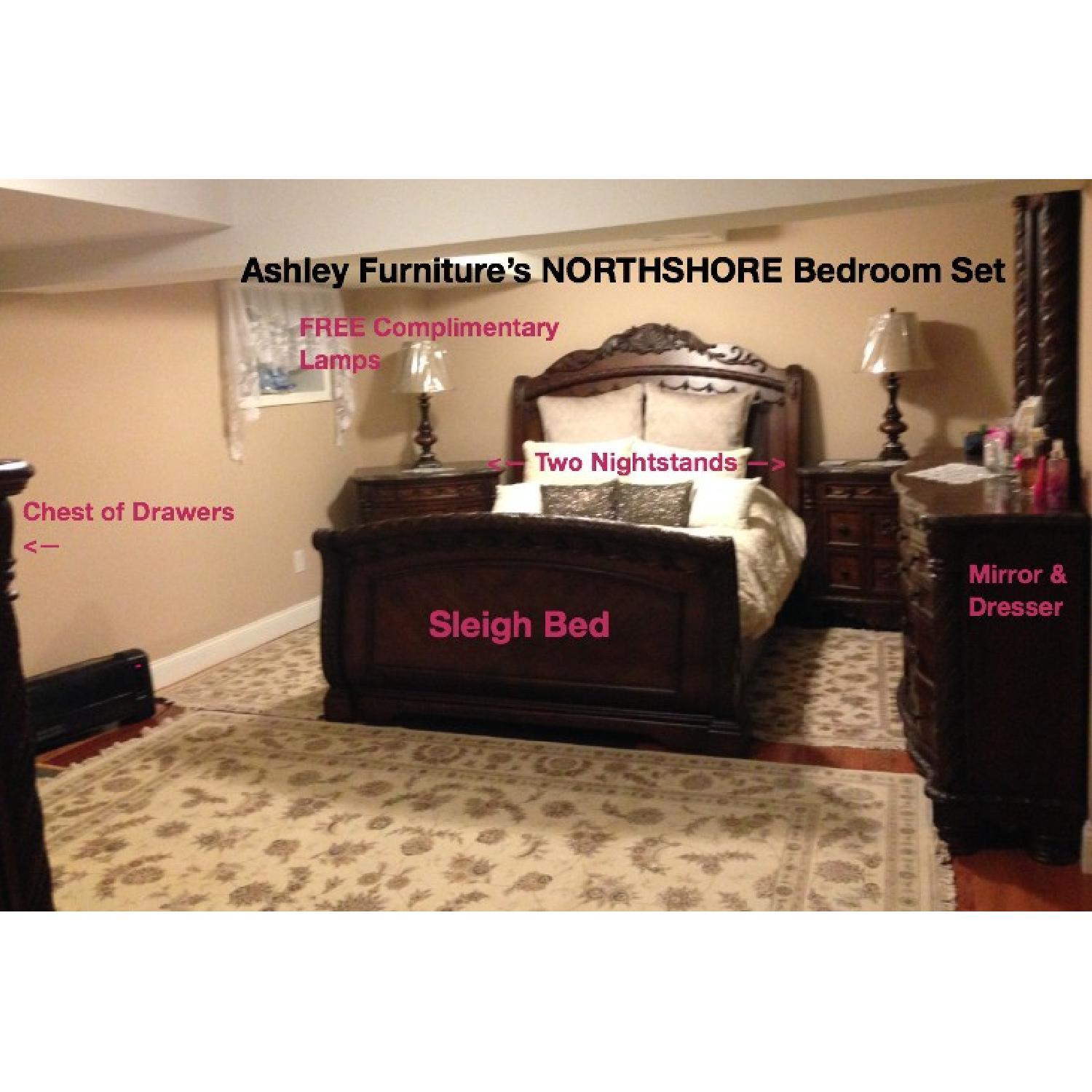 Ashley S North Shore 8 Piece Queen Bedroom Set Aptdeco