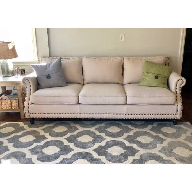 ... Baxton Studio McKenna Linen Modern Sofa 0 ...