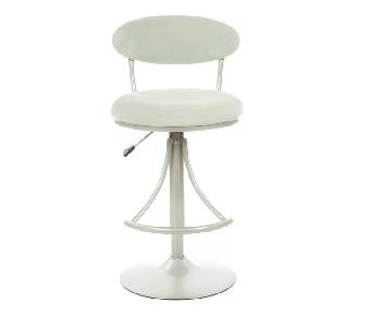Latitude Run Elon White Leather Bar Stools