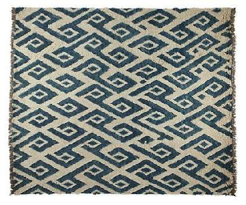Room & Board Blue Patterned Wool Rug