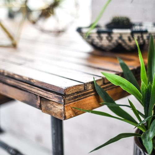 Reclaimed Wood Dining Table w/ Industrial Style Legs