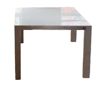 Somette Extendable White Parsons Table