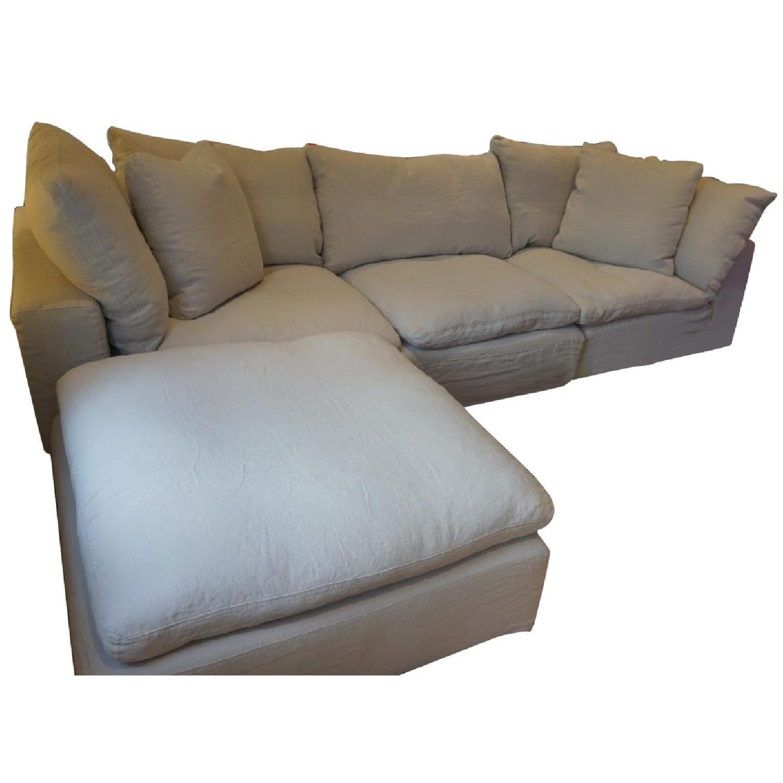 Restoration Hardware Cloud 4 Piece Modular Sectional Sofa ...
