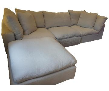 Restoration Hardware Cloud 4-Piece Modular Sectional Sofa