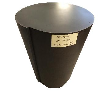 Crate & Barrel Drum Side Table