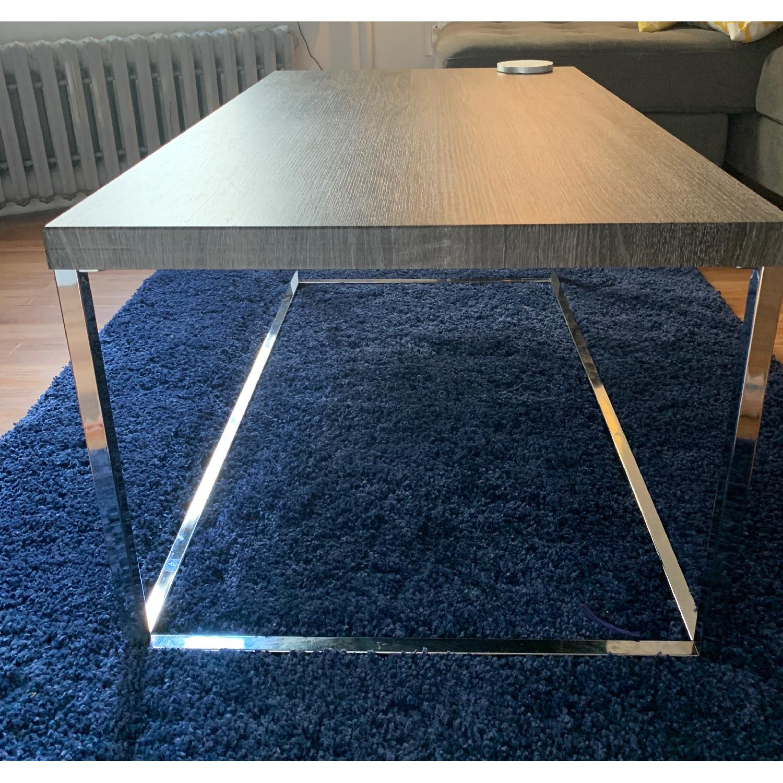 ... Harper Blvd Gorman Chrome Distressed Grey Coffee Table 0 ...