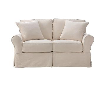 Home Decorators Collection Mayfair Natural Sleeper Loveseat ...