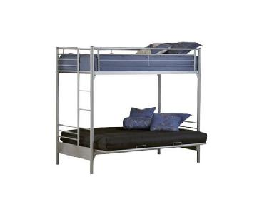 Universal Twin/Full Futon Metal Bunk Bed w/ Ladder
