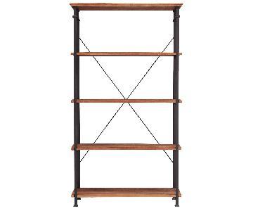 InspireQ Myra Industrial Modern Rustic Bookcase
