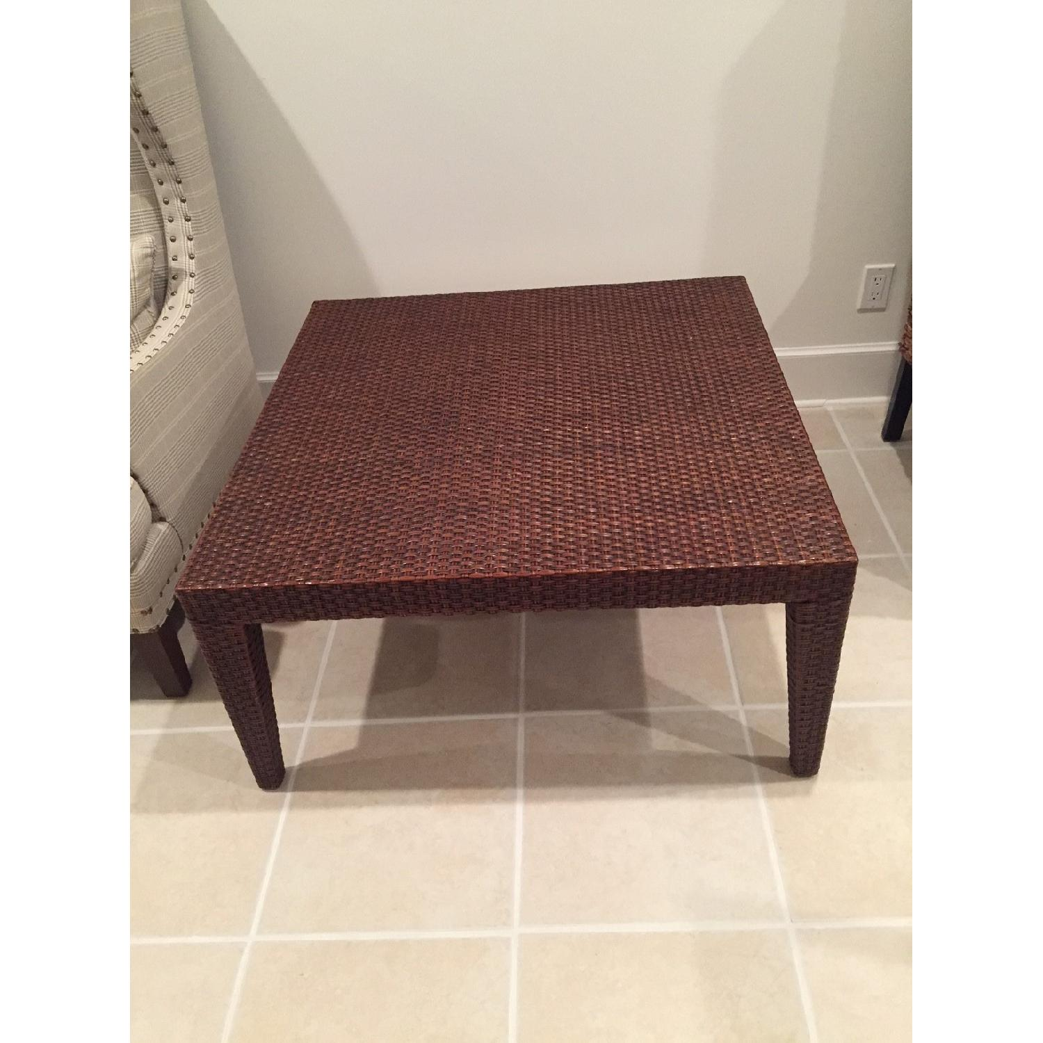 Mitchell Gold + Bob Williams Rattan Coffee Table-1