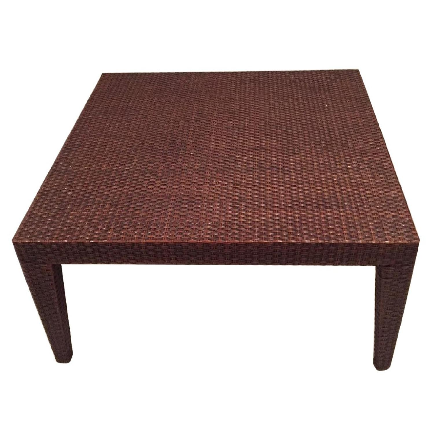 Mitchell Gold + Bob Williams Rattan Coffee Table