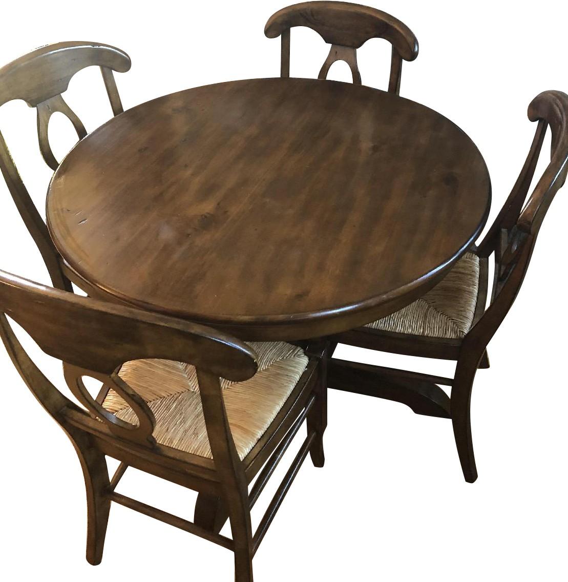 Pottery Barn Tivoli Round 5-Piece Dining Set