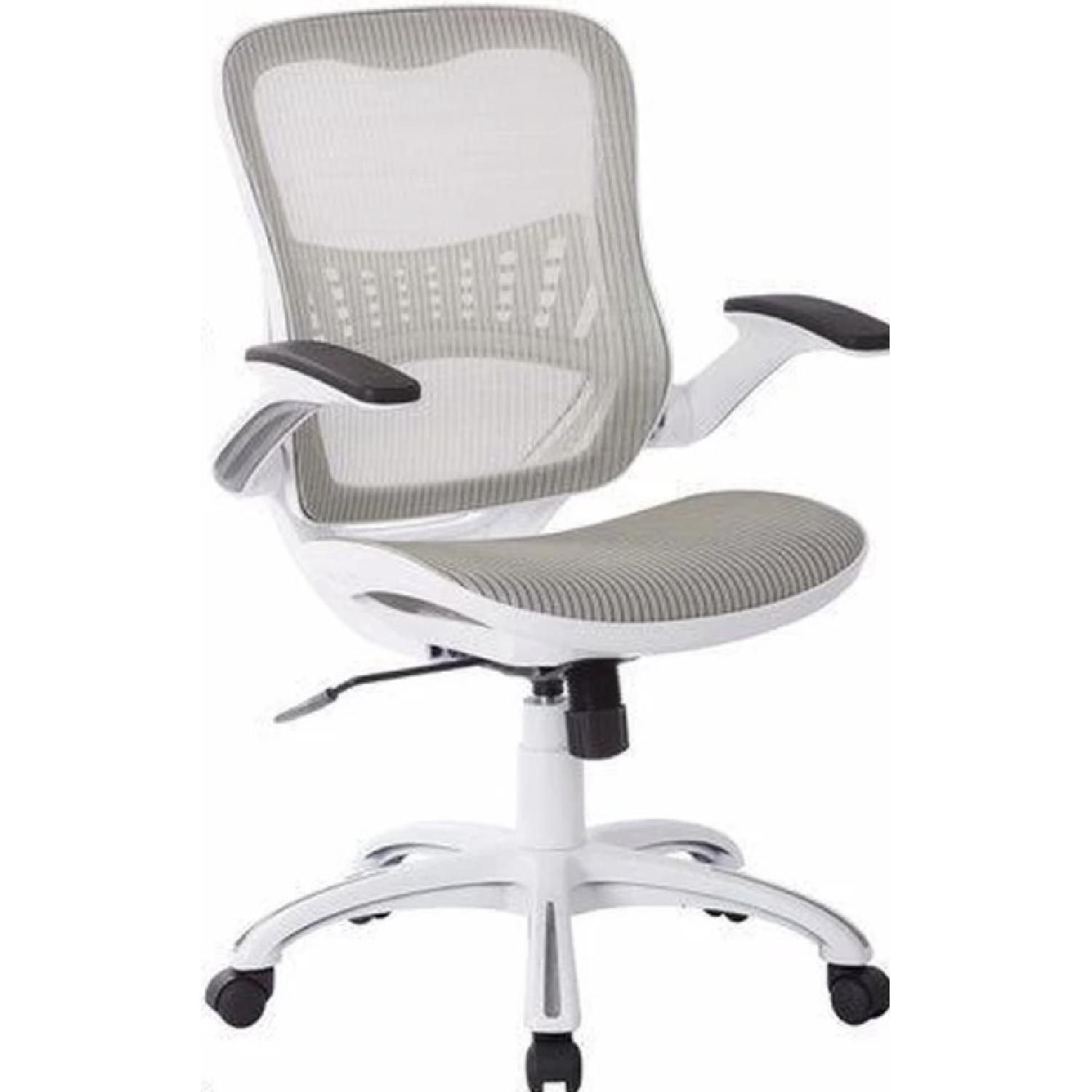 White Mesh Manager Office Chairs ...