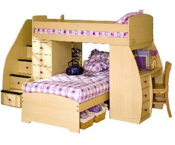 Berg Furniture Sierra Twin over Twin Loft Bed w/ Desk