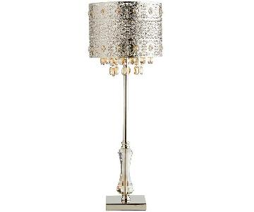 Pier 1 Bohemian Crystal Table Lamp
