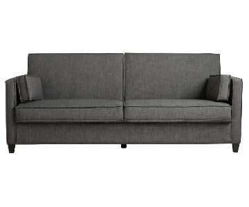 World Market Charcoal Gray Nolee Folding Sofa