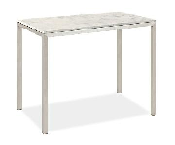Room & Board Marbled White Quartz Top Dining Table