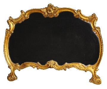 Italian Mirror in Golden Wood