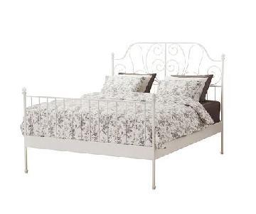 Ikiea Leirvik White Bed Frame