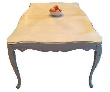 Antique White Expandable Dining Table