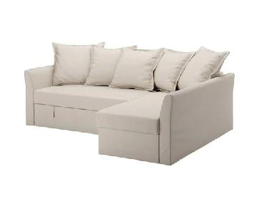 Ikea Holmsund 3 Seat Sleeper Sectional Sofa