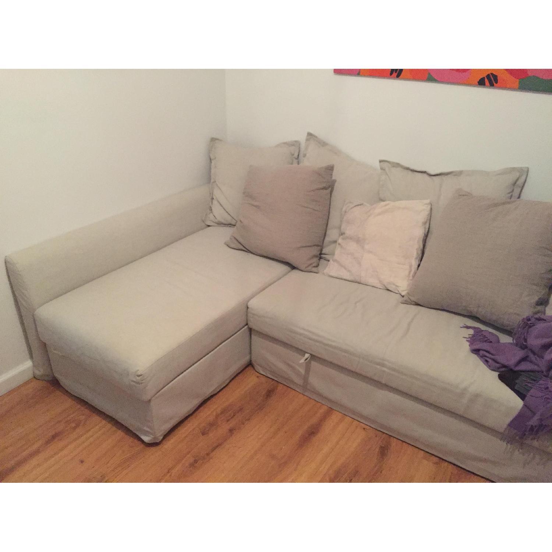 ... Ikea Holmsund 3 Seat Sleeper Sectional Sofa 0 ...