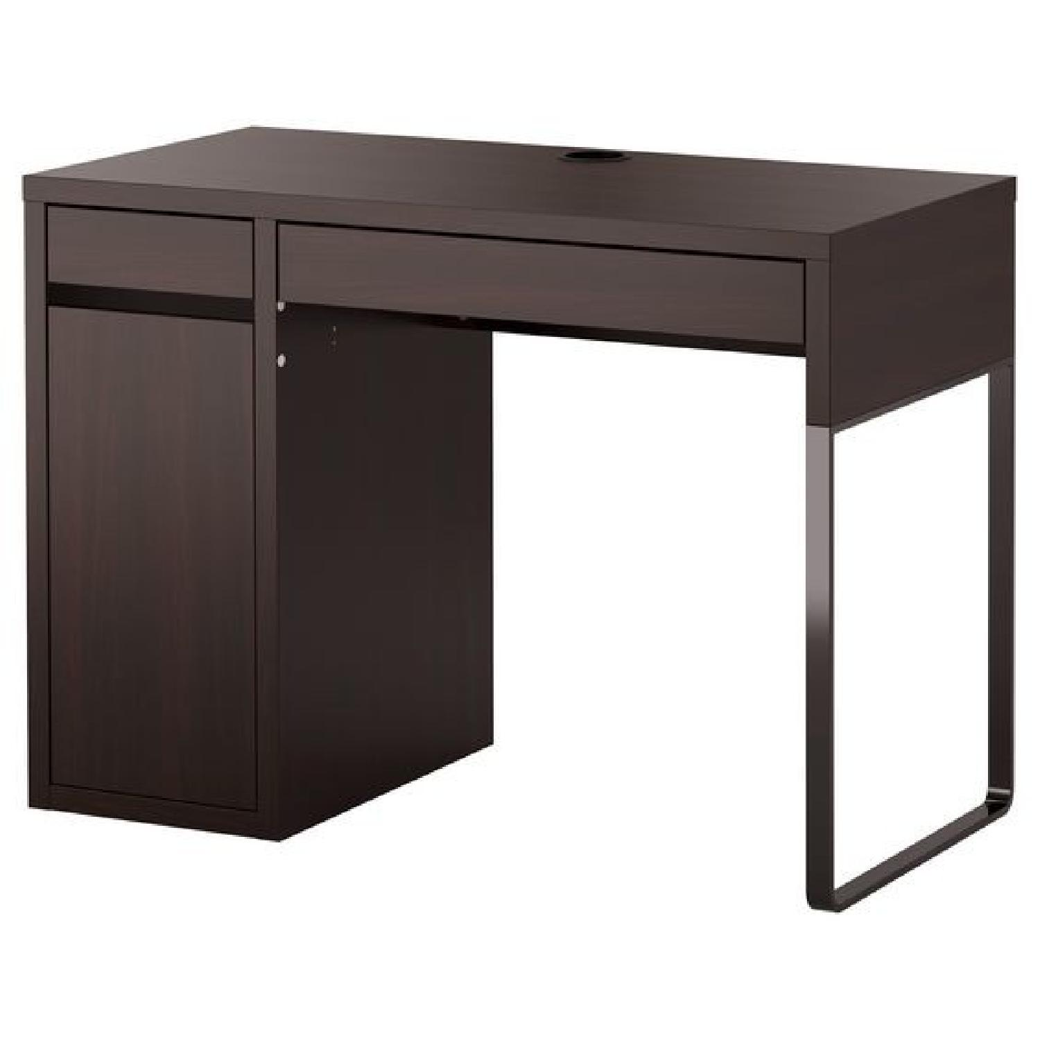Ikea Micke Desk W/ Storage In Brown/Back ...