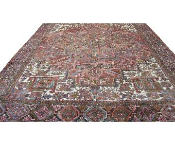 Antique Persian Heriz Serapi Hand Knotted Wool Rug