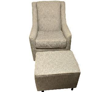 Buy Buy Baby Swivel Nursing Chair & Ottoman