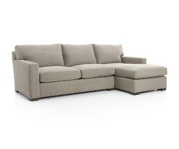 Crate & Barrel Axis II 2-Piece Sectional Sofa