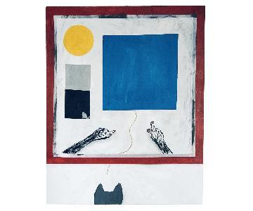 Avenues Original Abstract Mixed Media Conceptual Painting