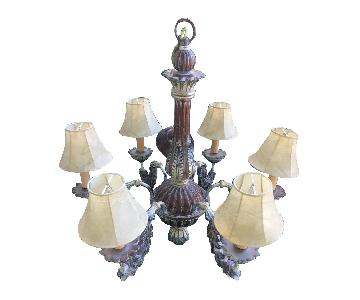 Vintage 6-Light Italian 19th C. Baroque Chandelier