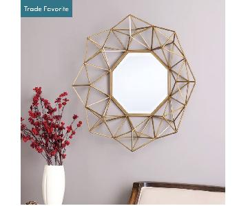 Willa Arlo Transitional Metal Frame Accent Wall Mirror