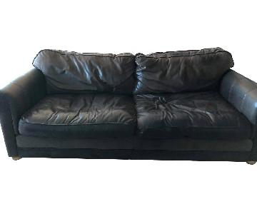 Hand Made English Leather Sofa