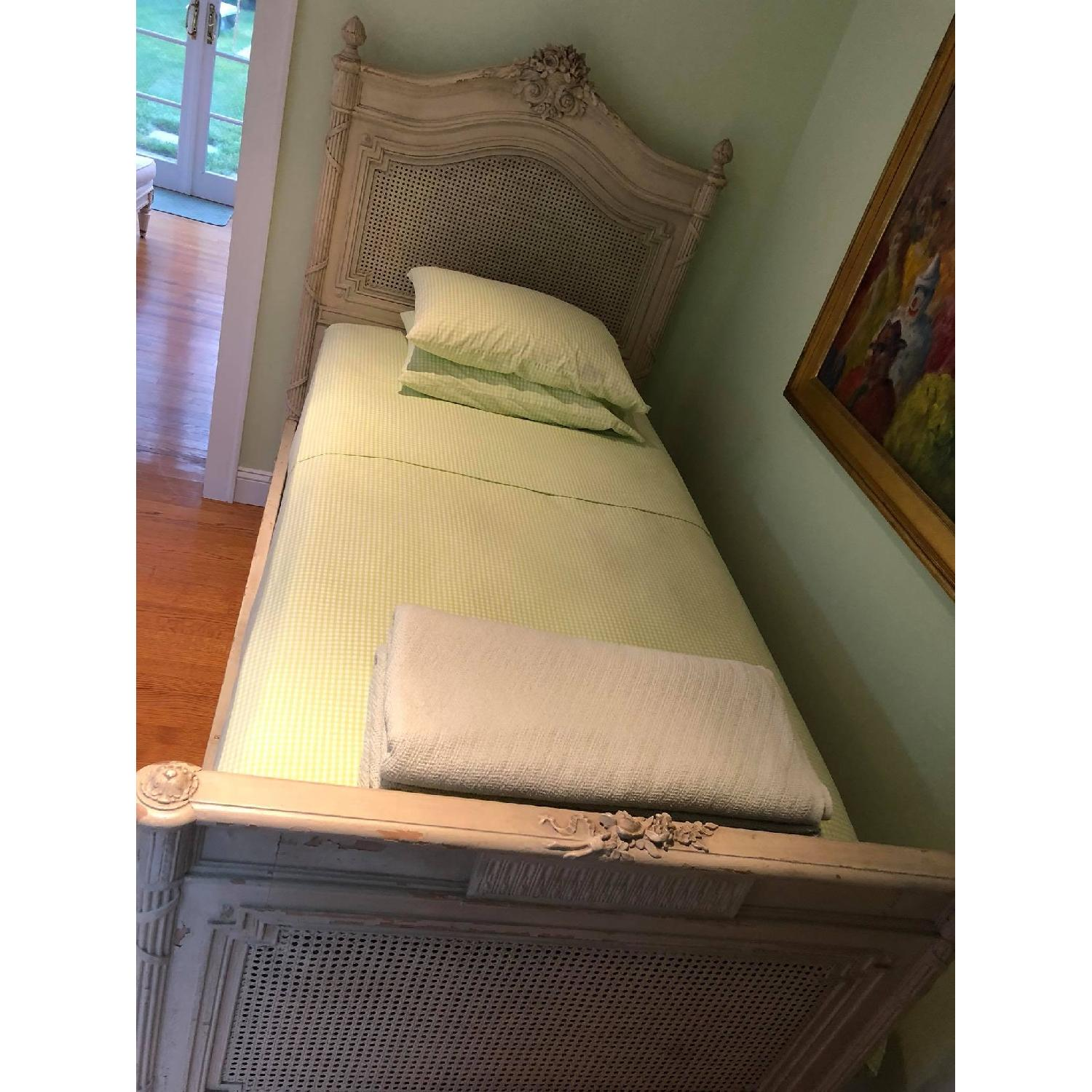 Twin High Style Painted French Bed Frame Aptdeco