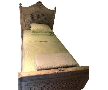 Twin High Style Painted French Bed Frame