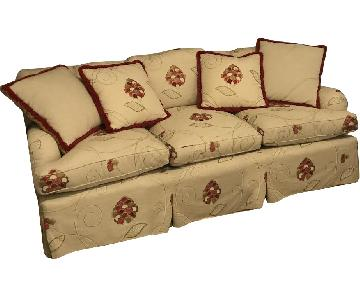 Antique Sofa w/ Throw Pillows