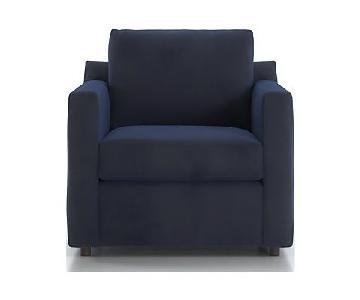 Crate & Barrel Barrett Track Arm Chair