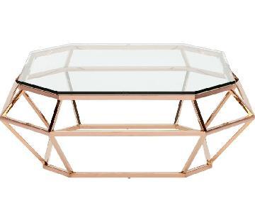 Nuevo Living Rose Gold Diamond Coffee Table