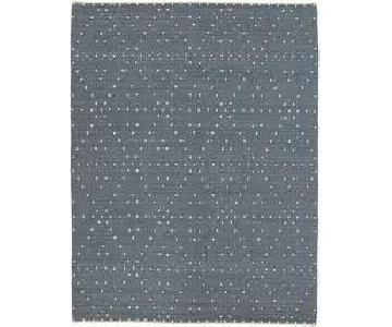 CB2 Orville Light Grey Handwoven Wool/Cotton Blend Rug