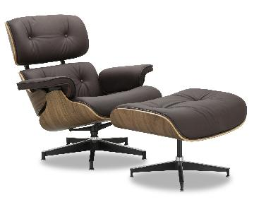 Eames Lounge Chair Replica in Brown