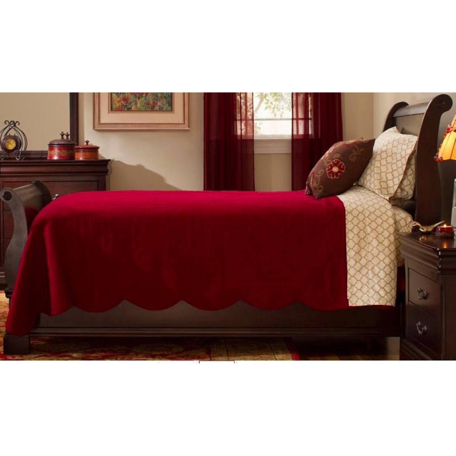 Macy's Louis Philippe King Sleigh Bed-0