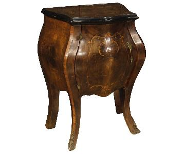 Italian Bedside Tables in Inlaid Wood