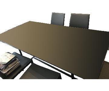 Dark Gray Glass Table Top