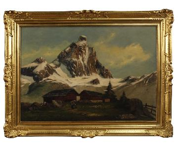 20th Century Oil on Canvas Italian Signed Landscape Painting