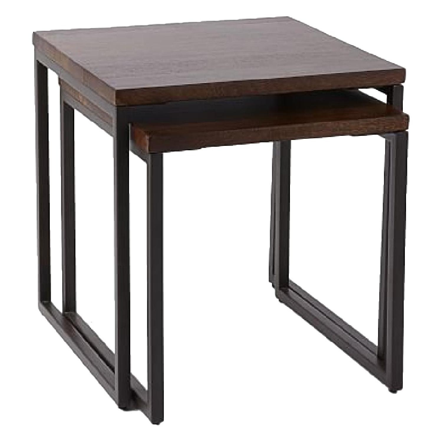 West Elm Wood Top Nesting Tables
