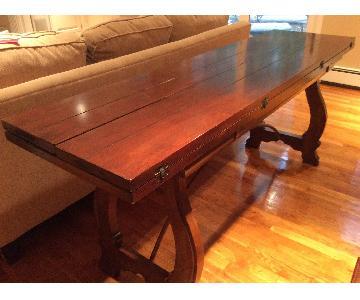 Antique Rustic Brown Sofa Table