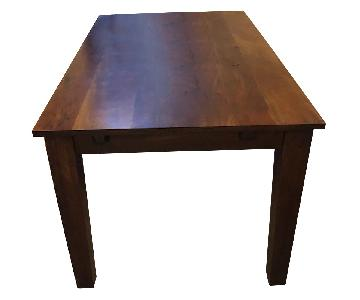 Pier 1 Modern Mid-Century Style Expandable Wood Dining Table